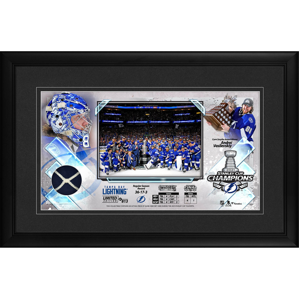 Tampa Bay Lightning 2021 Stanley Cup Champions Framed 10