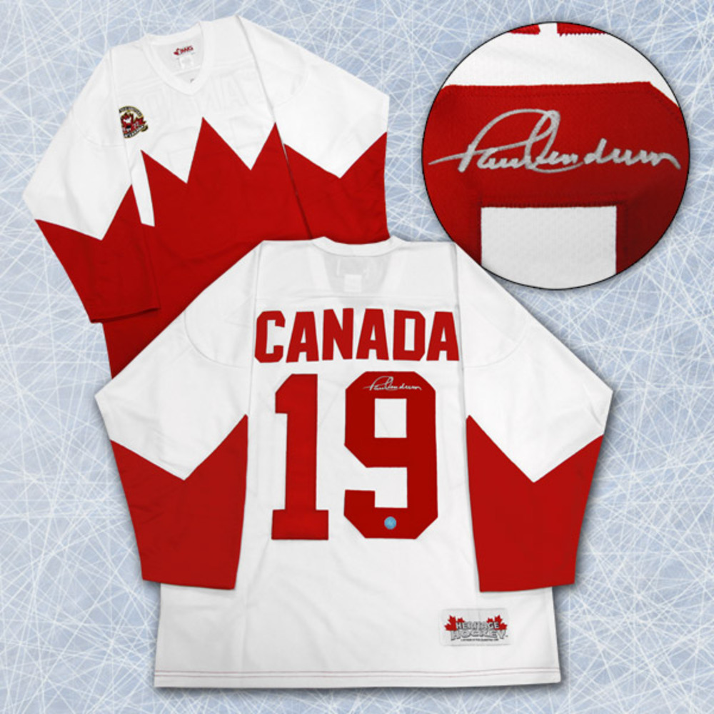 Paul Henderson Team Canada Autographed 1972 Summit Series Hockey Jersey