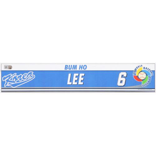 Photo of 2009 WBC: Korea Game-Used Locker Name Plate - #6 Bum Ho Lee