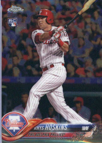 Photo of 2018 Topps Chrome #70 Rhys Hoskins RC