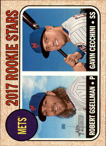 Photo of 2017 Topps Heritage #177 Gavin Cecchini RC/Robert Gsellman Rookie Card