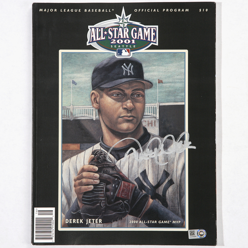 Photo of Derek Jeter Autographed 2001 All-Star Game Program