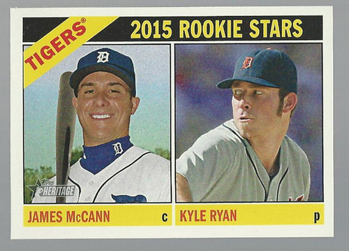 Photo of 2015 Topps Heritage #107 James McCann RC/Kyle Ryan RC