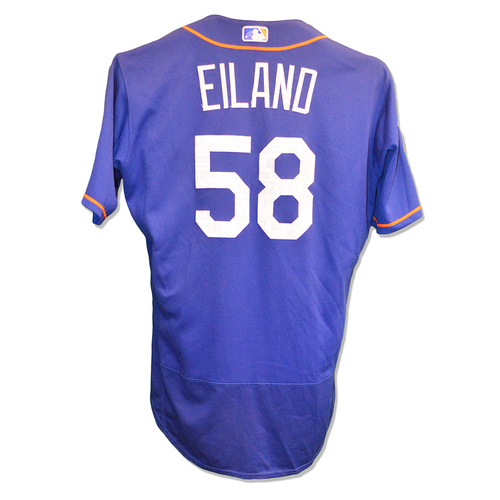 Photo of Dave Eiland #58 - Game Used 2018 Spring Training Jersey - Mets vs. Marlins - 3/25/18
