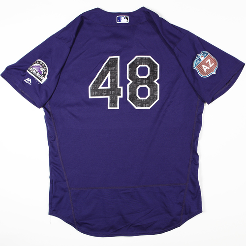 Photo of 2016  Spring Training -  Game-Used Jersey - Boone Logan (Rockies) - Size 48