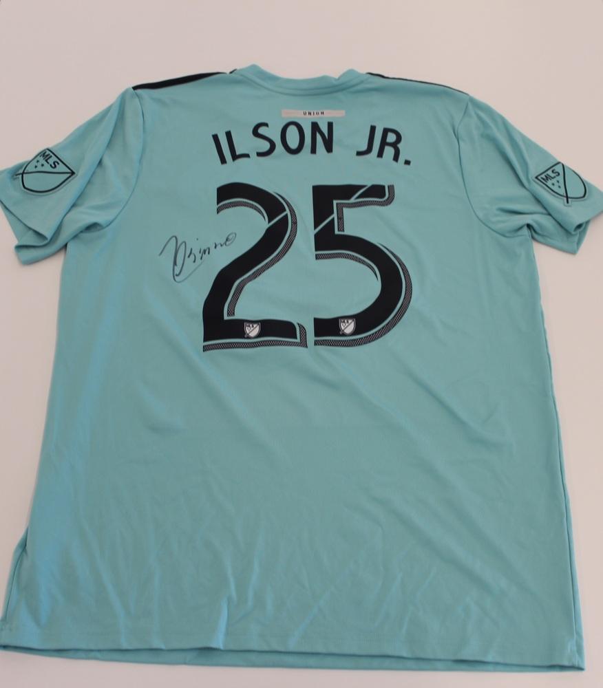 Ilsinho Philadelphia Union Used, Signed 2019 Adidas Parley Jersey