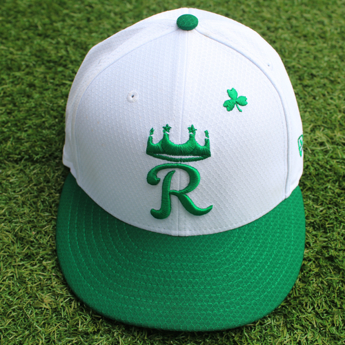 Photo of Game-Used St. Patrick's Day Cap: Sam McWilliams (Size 7 3/8 - SF @ KC - 3/17/19)