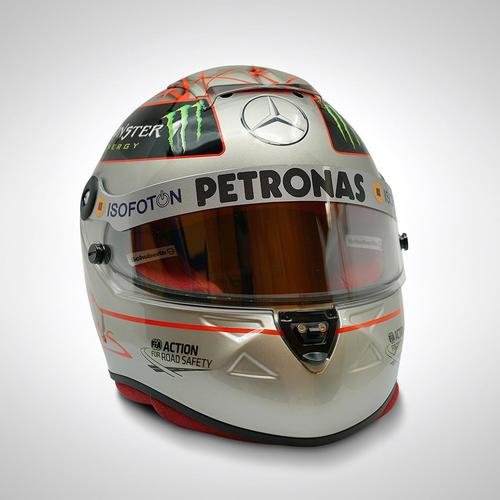 Photo of Michael Schumacher 2012 300th Grand Prix Special Replica Helmet
