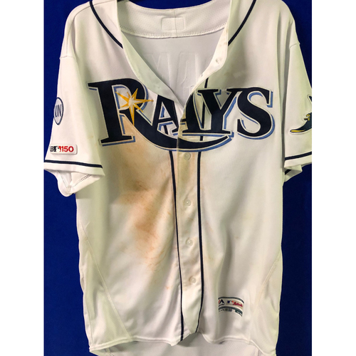 Photo of Game Used Jersey: Willy Adames - WALK OFF RBI single off Trevor Kelley - September 20, 2019