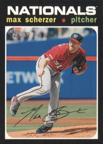 Photo of 2020 Topps Heritage #82 Max Scherzer