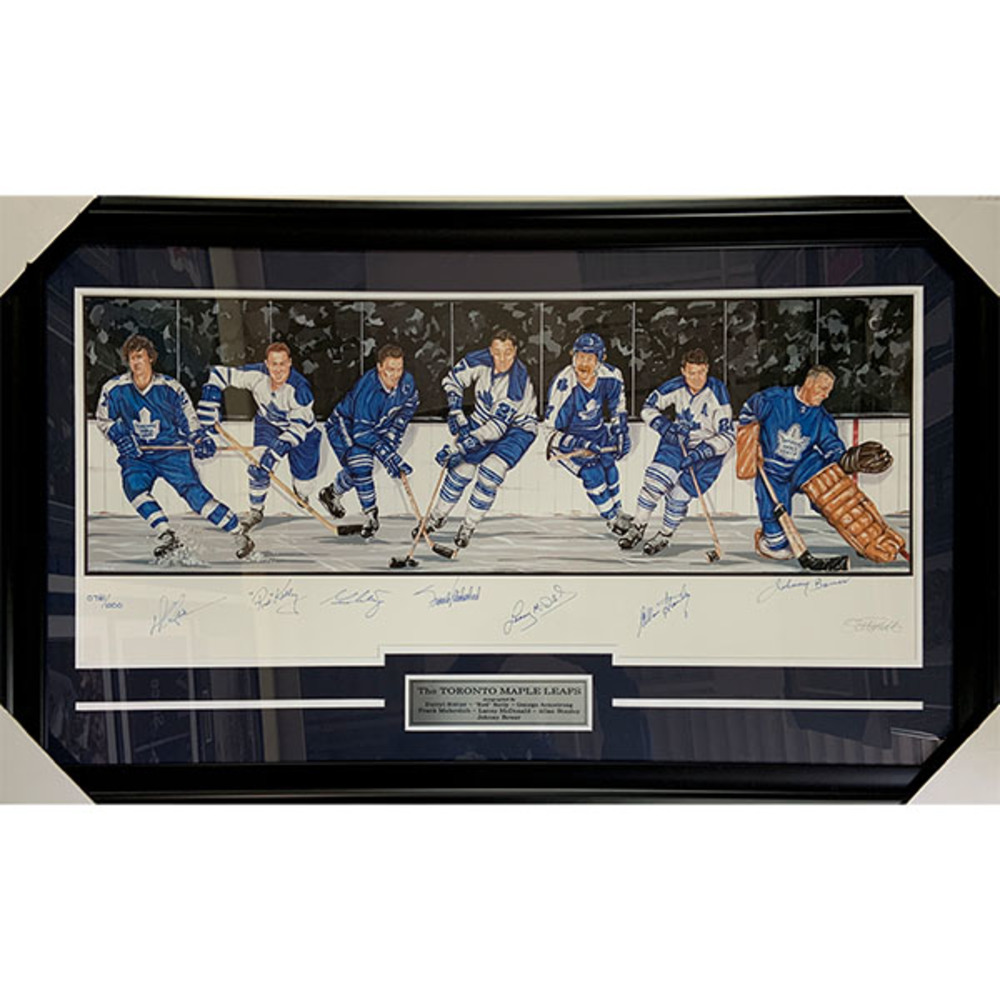 The Toronto Maple Leafs Framed Multi-Signed Lithograph