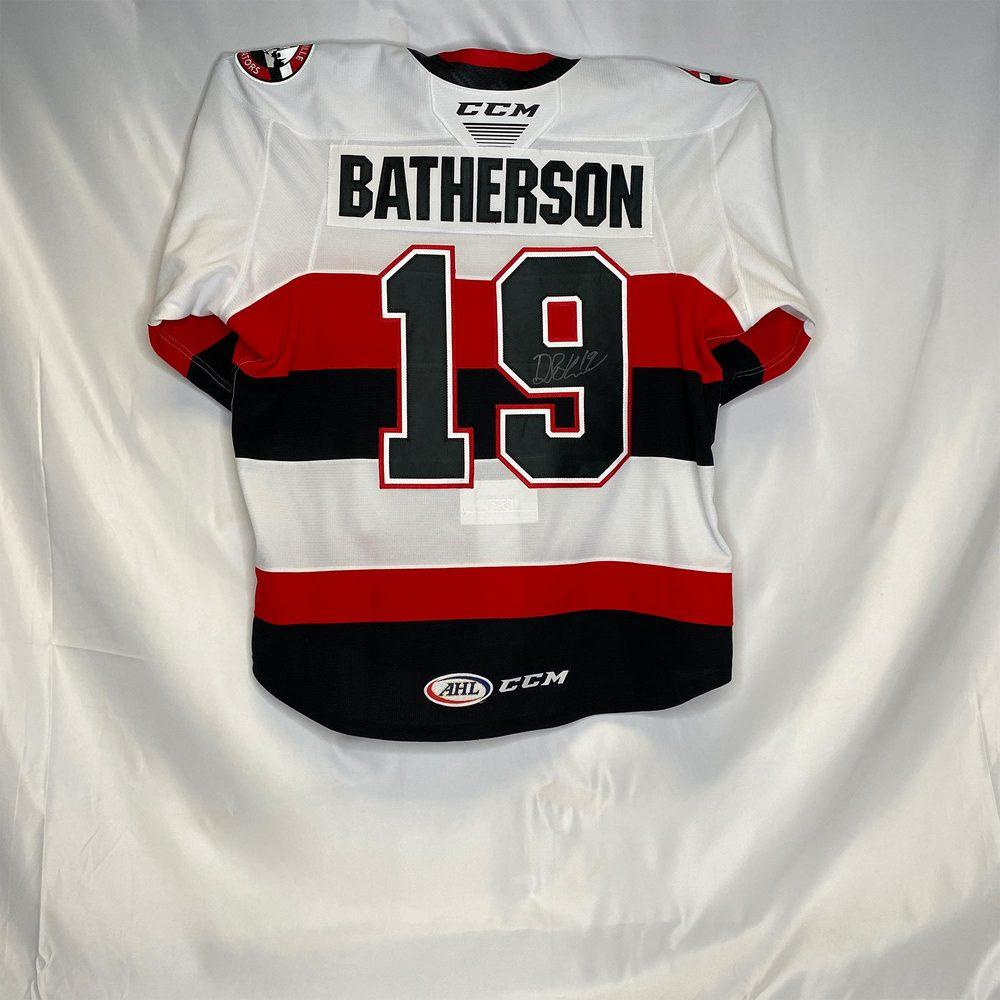 2019-20 Belleville Senators Regular Season Jersey Worn and Signed by #19 Drake Batherson