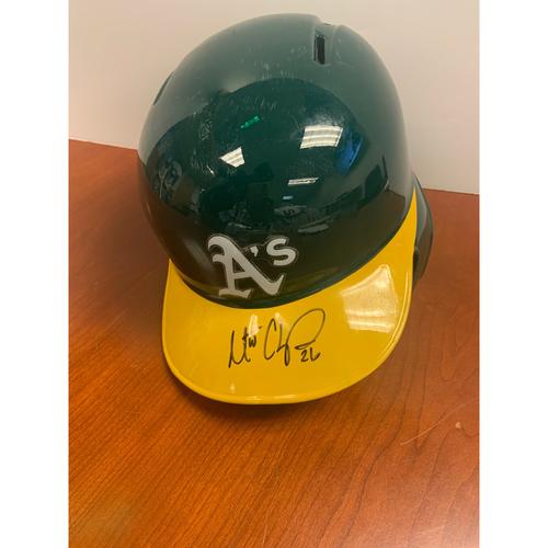 Photo of Oakland A's Community Fund: Matt Chapman Autographed Helmet