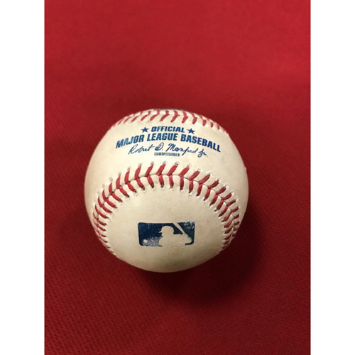 Photo of Game-Used Baseball 8/4/20 Houston Astros at Arizona Diamondbacks: Cristian Javier vs. Carson Kelly (Struck Out Swinging), Daulton Varsho (Line Out to Kyle Tucker) and Nick Ahmed (Called Strike, Called Strike, Ball, Foul)
