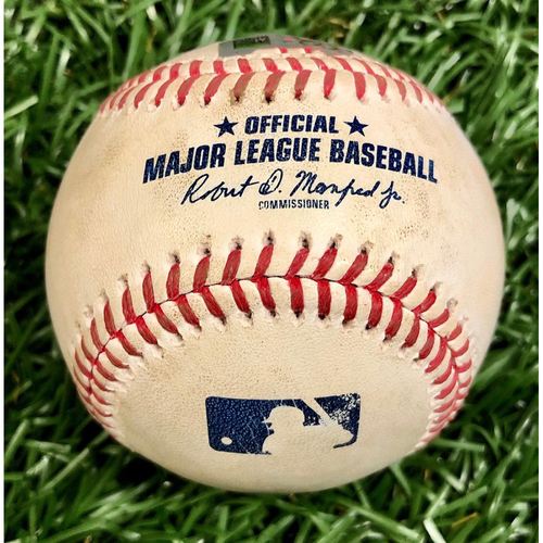 Photo of Game Used Baseball: Jean Segura bunt single off Ryan Yarbrough - September 26, 2020 v PHI