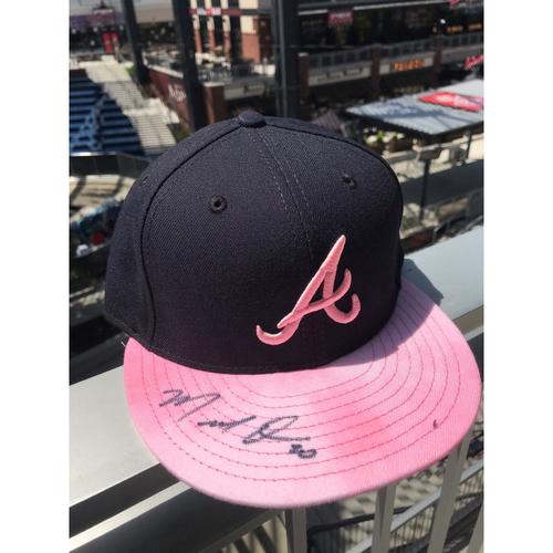 Photo of Marcel Ozuna Autographed MLB New Era Pink Cap