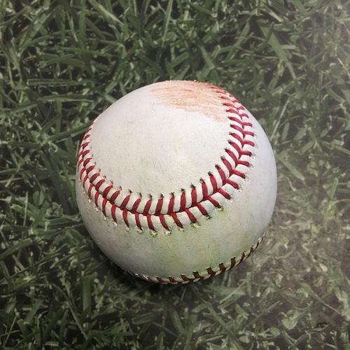 Photo of Game-Used Baseball LAD@MIL 05/01/21 - Brandon Woodruff - Mookie Betts: Single