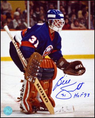 BILLY SMITH New York Islanders SIGNED 8x10 Photo