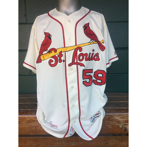 Cardinals Authentics: Eric Fryer Saturday Ivory Jersey