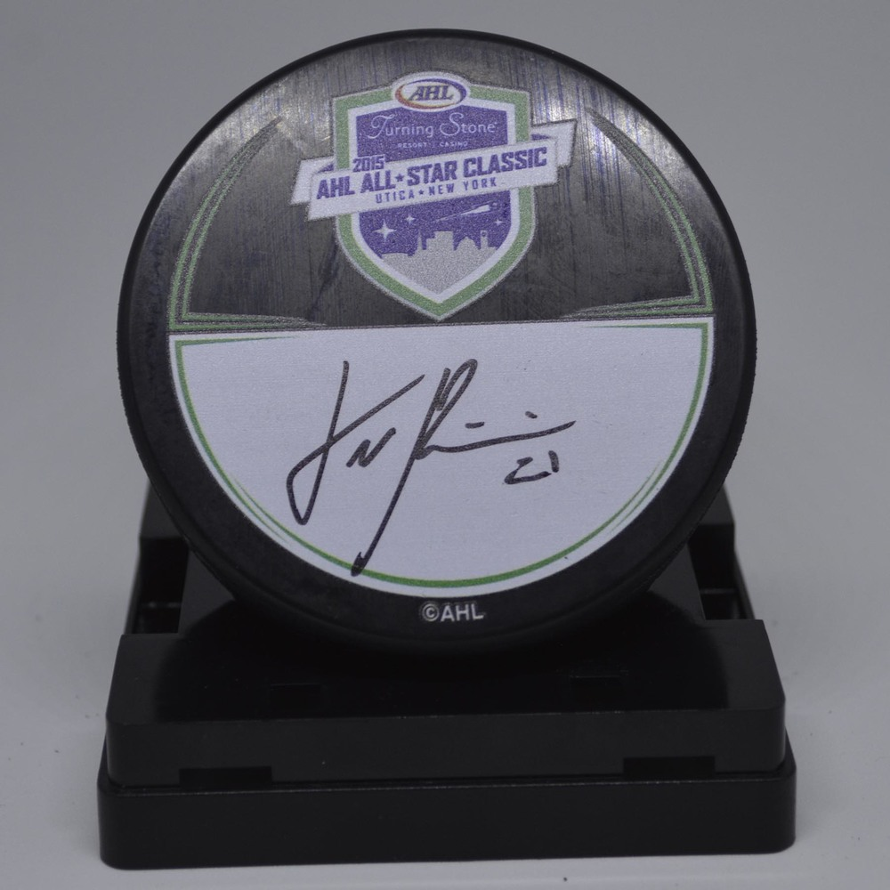 2015 AHL All-Star Classic Souvenir Puck Signed by #21 Emile Poirier