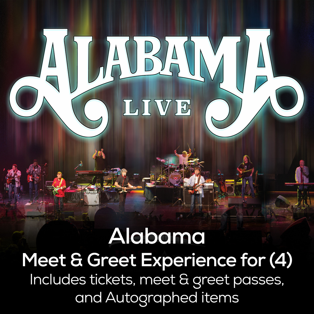 Alabama Concert Tickets And Vip Meet Greet Package For Four Guests