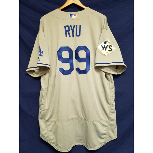 Photo of Hyun-Jin Ryu 2017 Road World Series Team-Issued Jersey