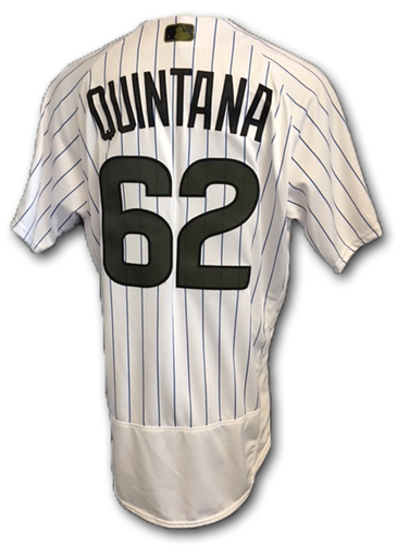 Photo of Jose Quintana Team-Issued Memorial Day Jersey -- Giants vs. Cubs -- 5/27/18