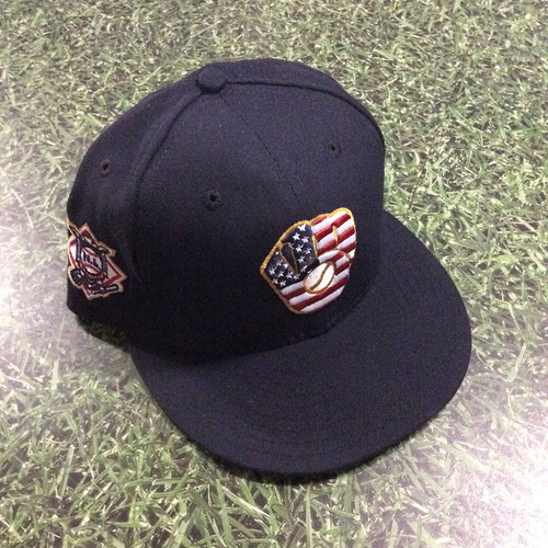 Photo of Brent Suter Team-Issued 2018 Stars & Stripes Cap