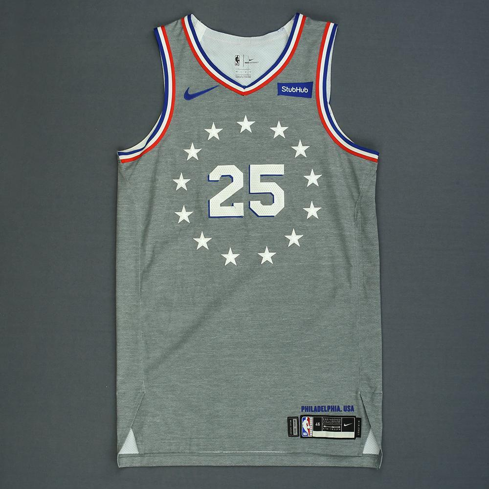Ben Simmons - Philadelphia 76ers - Game-Worn City Edition Jersey - 2018-19 Season