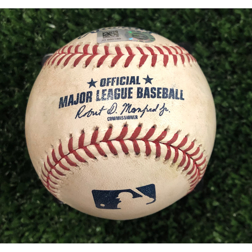 Photo of Freddie Freeman and Josh Donaldson Game Used Hit Single Baseball - June 17, 2019