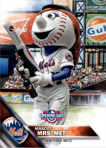 Photo of 2016 Topps Opening Day Mascots #M9 Mrs. Met