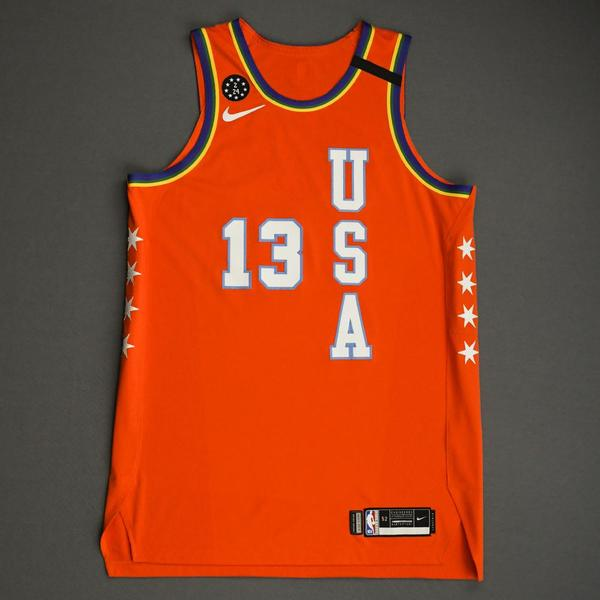 Image of Jaren Jackson Jr. - 2020 NBA Rising Stars - Team USA - Game-Worn 1st Half Jersey