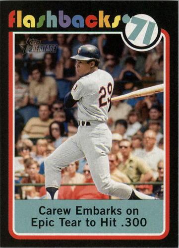 Photo of 2020 Topps Heritage Baseball Flashbacks #BF5 Rod Carew