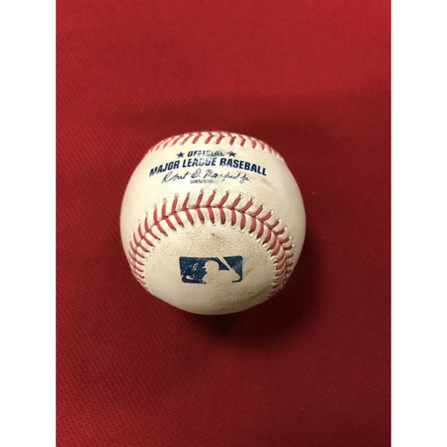 Photo of 8/5/20 Game-Used Baseball, Houston Astros at Arizona Diamondbacks: Robbie Ray vs. Abraham Toro-Hernandez (Singled to Starling Marte, Scored Carlos Correa) and Kyle Tucker (Called Strike, Ball in Dirt)