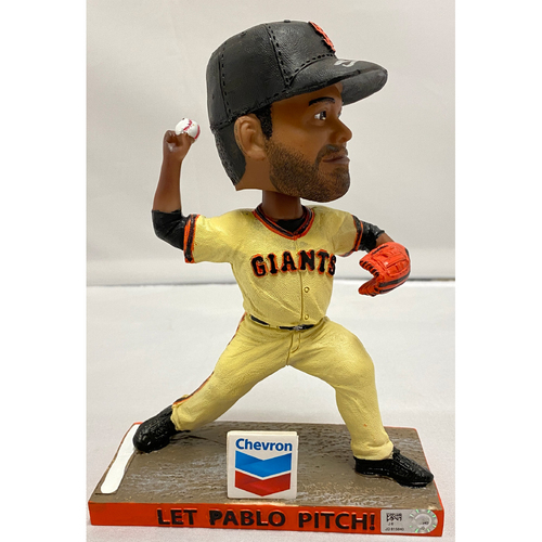 "Photo of 2020 Cyber Monday Sale - 2019 Autographed Pablo Sandoval ""Let Pablo Pitch"" Bobblehead signed by #48 Pablo Sandoval"