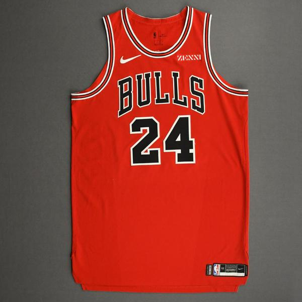 Image of Lauri Markkanen - Chicago Bulls - Kia NBA Tip-Off 2020 - Game-Worn Icon Edition Jersey - Scored 21 Points