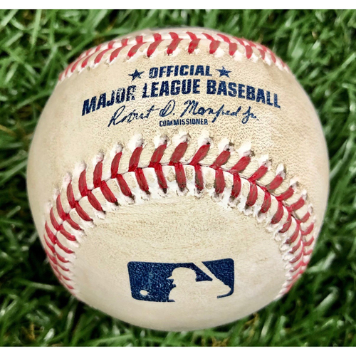 Photo of Game Used Baseball: Harold Ramirez foul ball off Blake Snell - September 5, 2020 v MIA