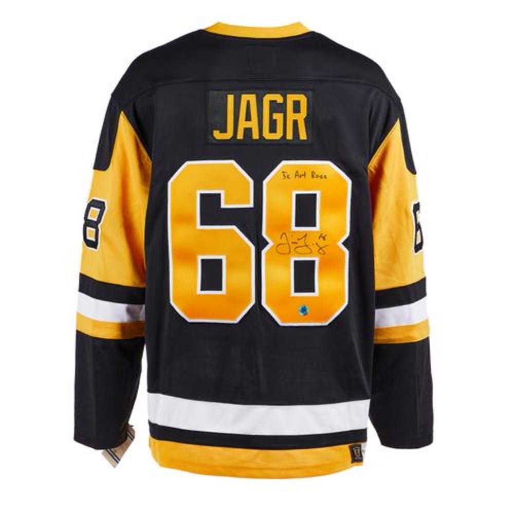 Jaromir Jagr Pittsburgh Penguins Signed 5x Art Ross Vintage Fanatics Jersey