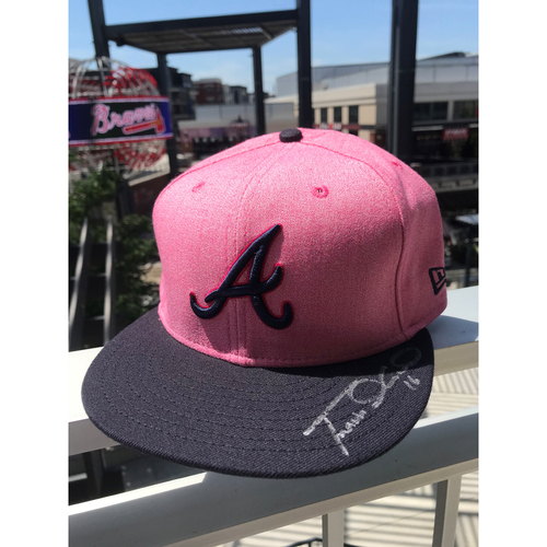 Photo of Travis d'Arnaud Autographed MLB New Era Pink Cap