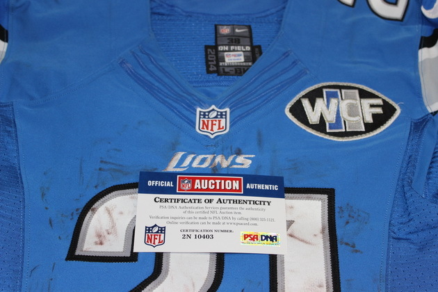 NFL Auction | STS - LIONS REGGIE BUSH GAME USED LIONS JERSEY 11/27/14