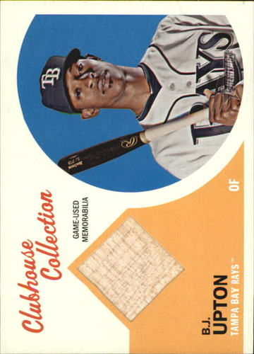 Photo of 2012 Topps Heritage Clubhouse Collection Relics #BJU B.J. Upton