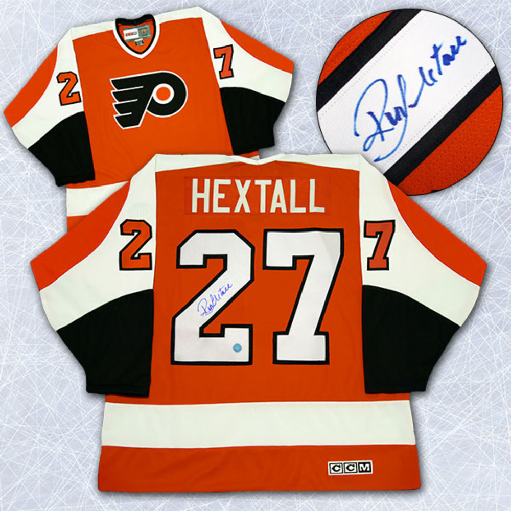 Ron Hextall Philadelphia Flyers Autographed Orange Retro CCM Hockey Jersey