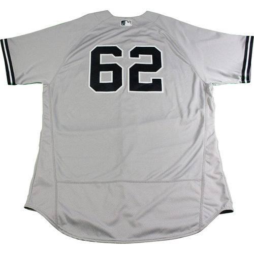Photo of Alan Cockrell New York Yankees 2017 Opening Day Game-Used #62 Road Jersey (4/2/2017). Jersey Size - 50