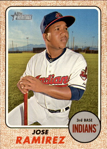 Photo of 2017 Topps Heritage #340 Jose Ramirez