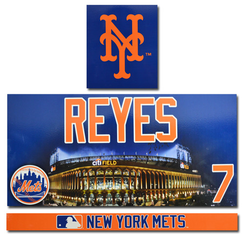 Jose Reyes #7 - Citi Field Locker Nameplate Set - 2017 Season