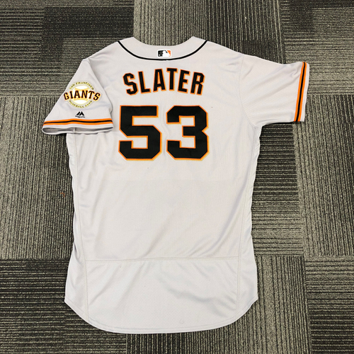 Photo of San Francisco Giants -2017 Game-Used Road Alternate Jersey worn by #53 Austin Slater