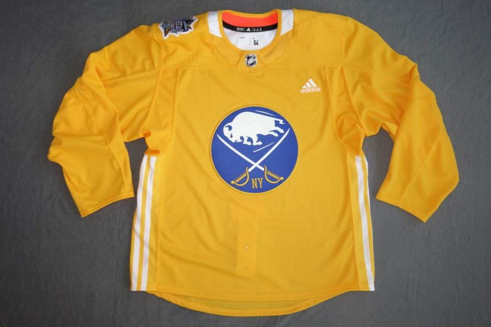 purchase cheap 8f670 0c57e 2018 Buffalo Sabres Winter Classic Yellow Practice Jersey ...