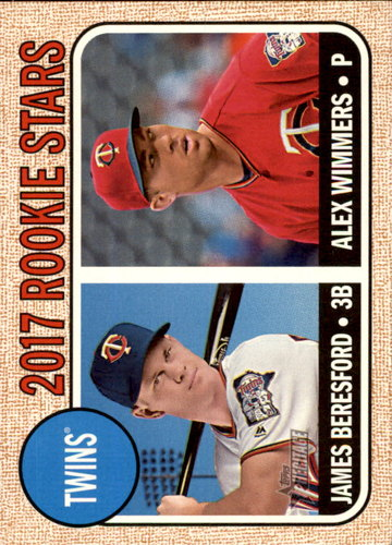 Photo of 2017 Topps Heritage #179 James Beresford RC/Alex Wimmers RC