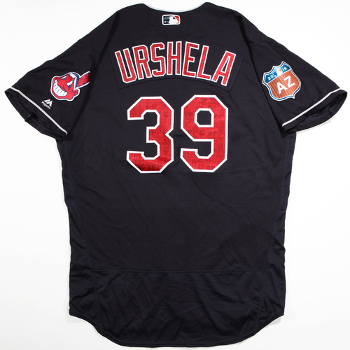 Photo of 2016  Spring Training -  Game-Used Jersey - Giovanny Urshela (Indians) - Size 48