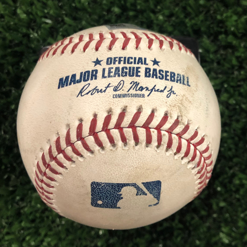 Photo of Austin Riley Game Used Hit Single Baseball - June 14, 2019